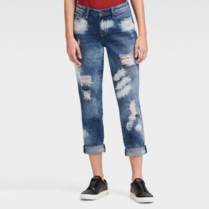 DKNY The Girlfriends Destructed Denim Jean. Blue